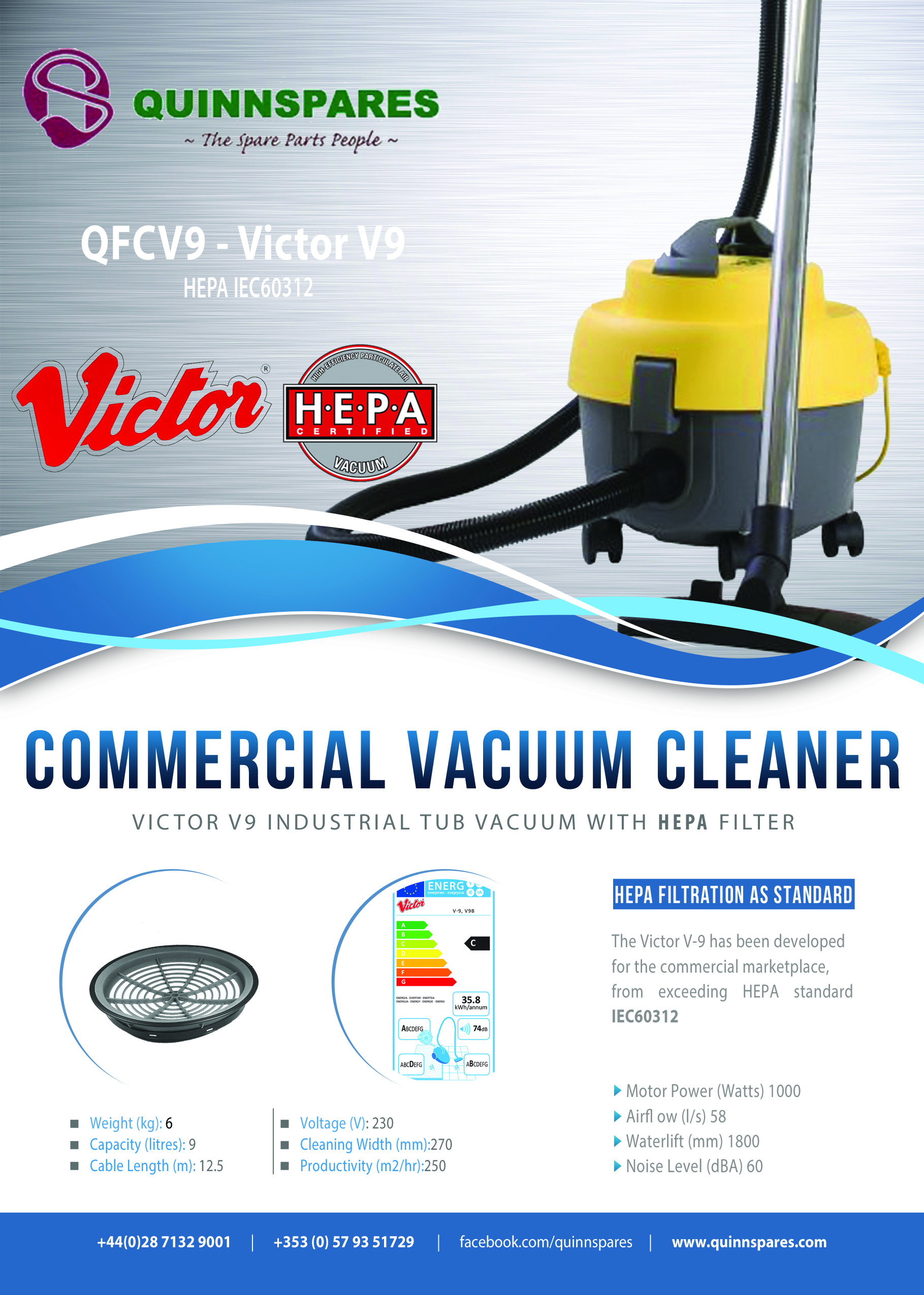 Commercial Vacuum With Hepa Filter